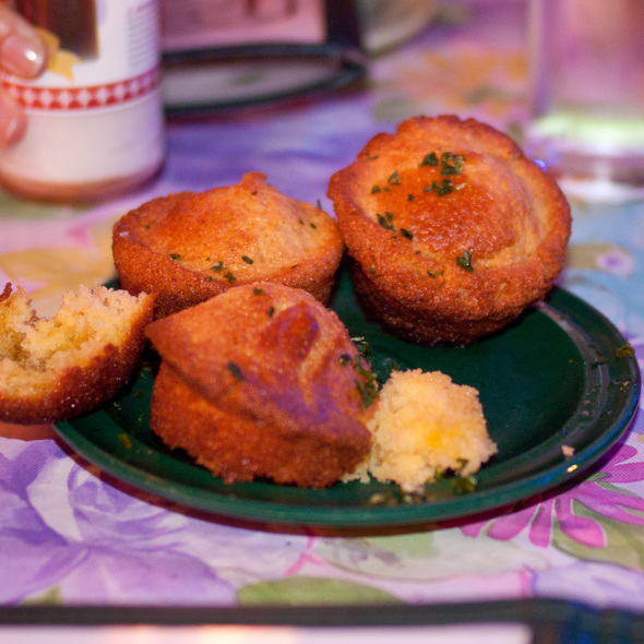 jalapeno cornbread muffins @ Jacques-Imo's