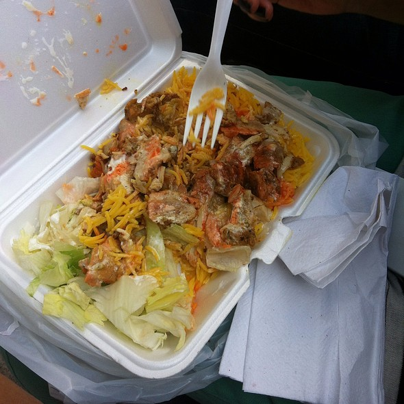 Chicken over rice @ Halal Food Cart
