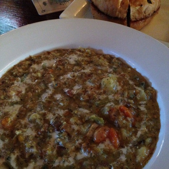 Halibut And Corn Chowder @ Buck & Ear Bar & Grill The