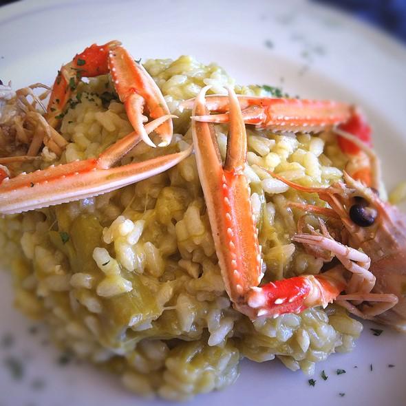 Asparagus Risotto With Prawns @ La Vecchia Cantina