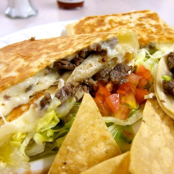 Carne Asada Quesadilla @ Tacos El Cosas