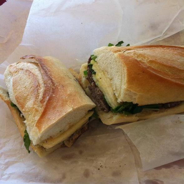 Lamb Sausage Sandwich @ Goose the Market