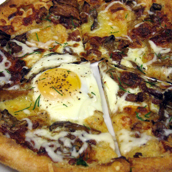 Wood Fired Pizza with a Farm Egg