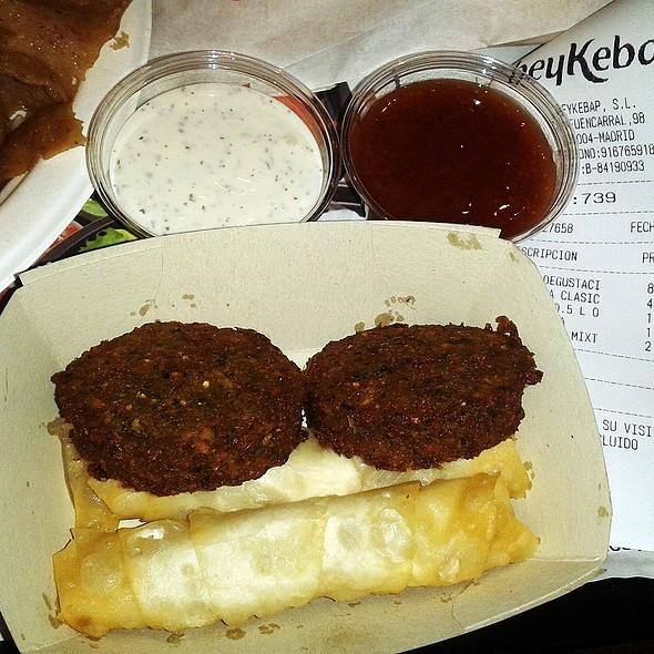 Falafel and cheese rolls @ BeyKebap