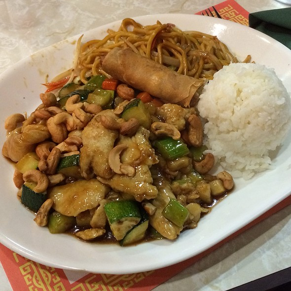 Cashew Chicken Combo @ Good Friends Restuarant