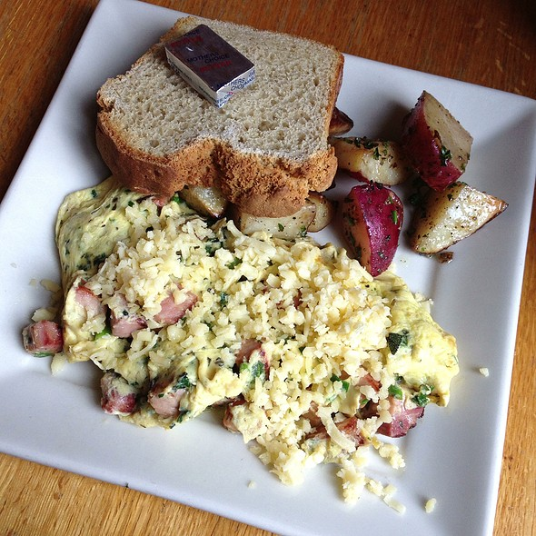 Classic Ham And Cheese Scramble With Gf Toast @ Portage Bay Cafe Restaurant and Catering