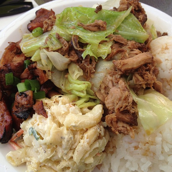 Kalua Pork And Teriyaki Chicken Combo @ Leilani's Cafe