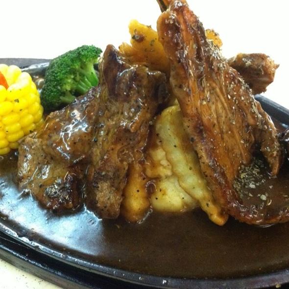 Black Paper Lamb Chop @ 724 AMK Market