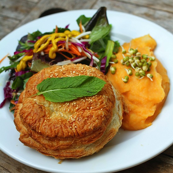 Creamy vegetable pie with sweet potato & coconut mash @ Me and Art - Sydney