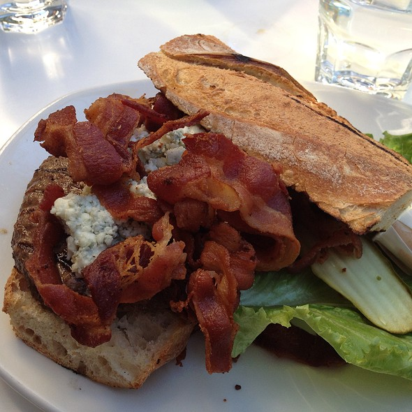 Black And Blue Burger @ Barney's Gourmet Hamburgers