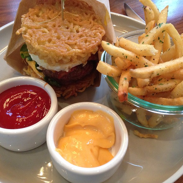 ramen burger - OneUP Restaurant & Lounge at Grand Hyatt San Francisco, San Francisco, CA