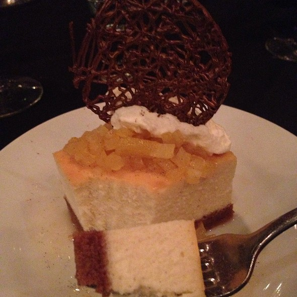 Orange Vanilla Ricotta Cheesecake - Brenner's Steakhouse Katy Freeway, Houston, TX