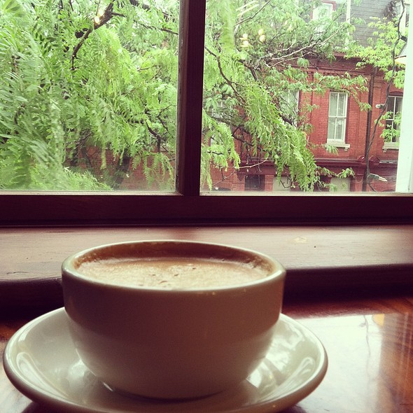 coffee late  @ soulard coffee garden