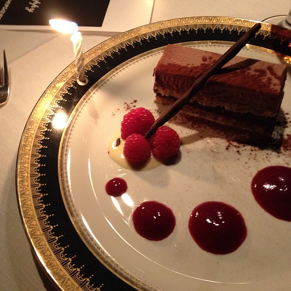 Double Chocolate Entremet With Almond Jaconde - The Refectory Restaurant & Bistro, Columbus, OH