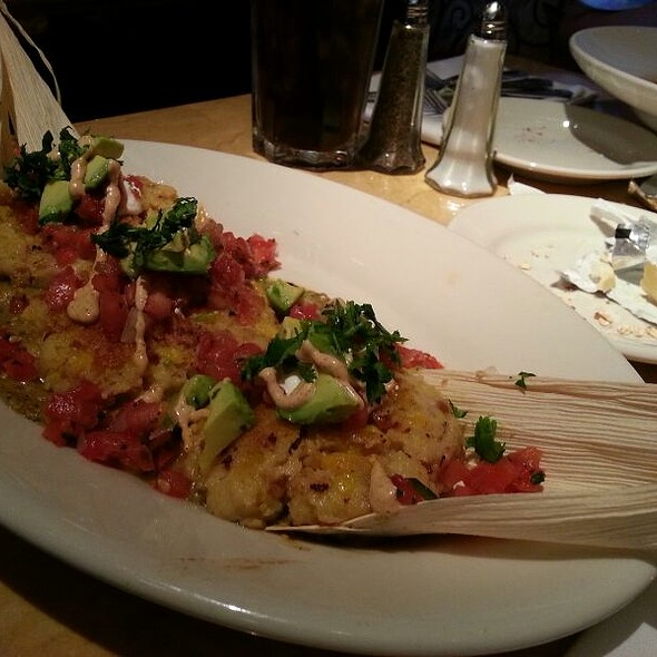 Sweet Corn Tamales w/ Carnitas @ The Cheesecake Factory