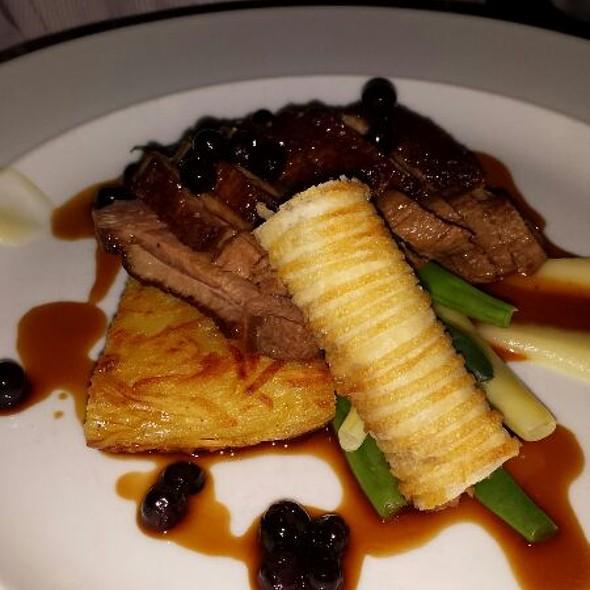 Noble Farms Duck With Potato Roesti, BC Sunrise Apple And Green Beans - Blink Restaurant, Calgary, AB
