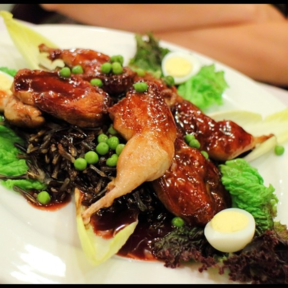 Roasted Quail with Wild Rice @ L'express