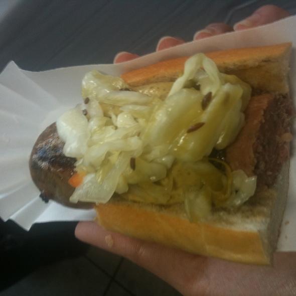 Housemade Hot Dog @ Absinthe Brasserie & Bar