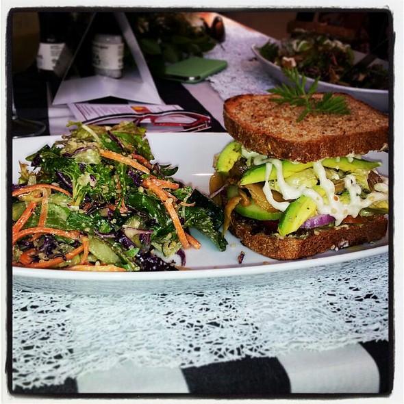 Roast Veg & Mock Tuna Sandwich @ Leafy Greens Cafe