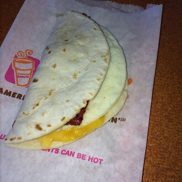 Bacon, Egg, And Cheese Wake Up Wrap @ Dunkin' Donuts