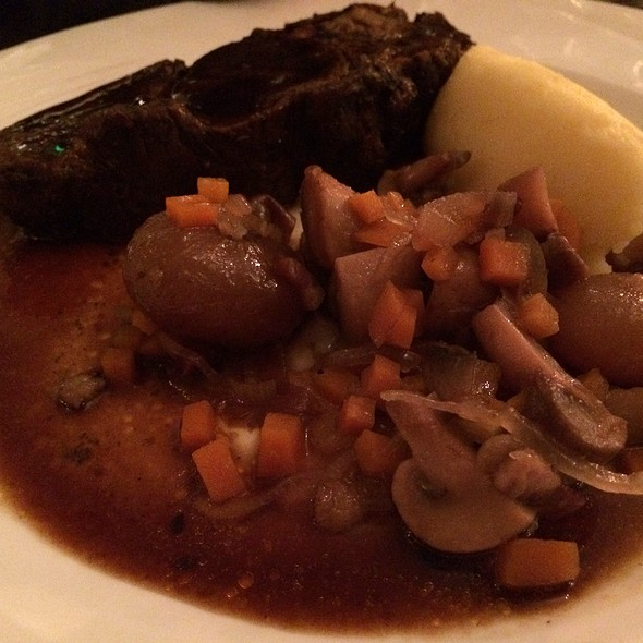 Roast Rib Of Butcher O'laughlin's Beef, With Bourguignon Garnish @ Brasserie One
