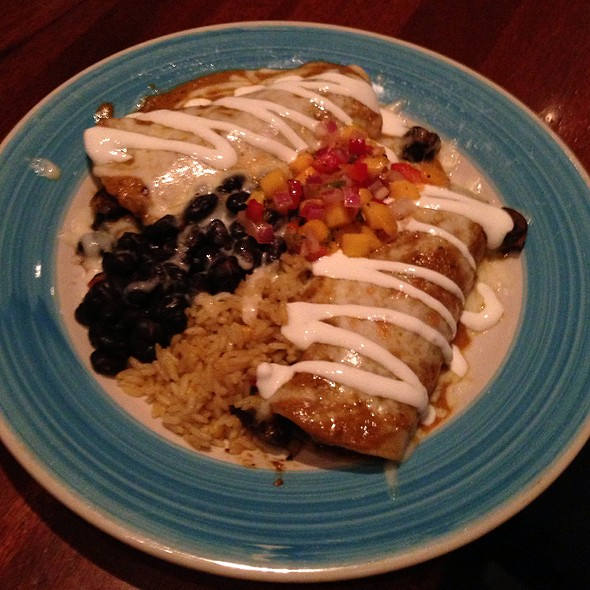 Wild Mushroom Enchiladas With Avocado Mango Chutney - Z'Tejas Tempe, Tempe, AZ