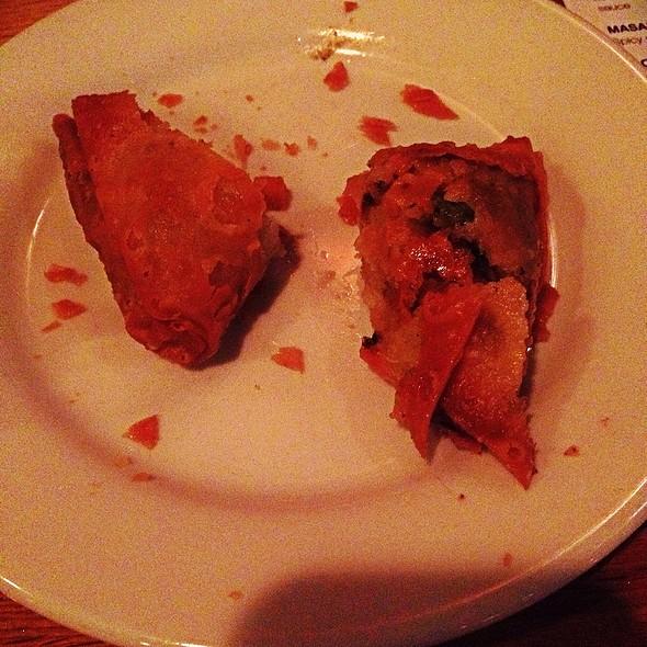 Vegetable Samosas @ London Sizzler Indian Bar & Grill