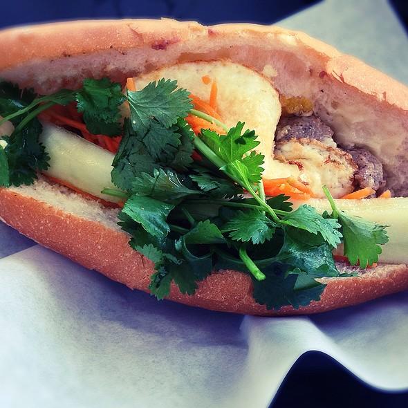 Pork Meatball Bahn Mi W. Fried Egg @ Les Givral's Sandwich and Cafe