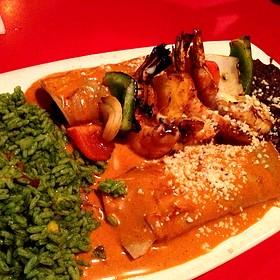 Filet Mignon And Shrimp Enchilada