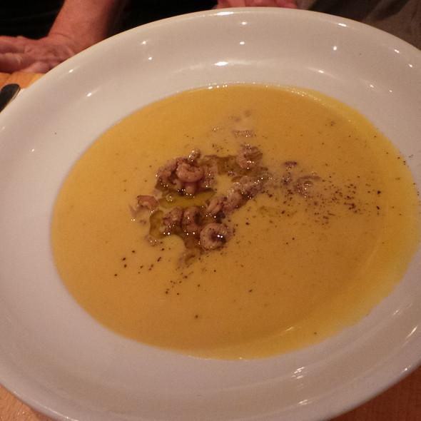 Squash Soup with Shrimps @ La Ruchetta
