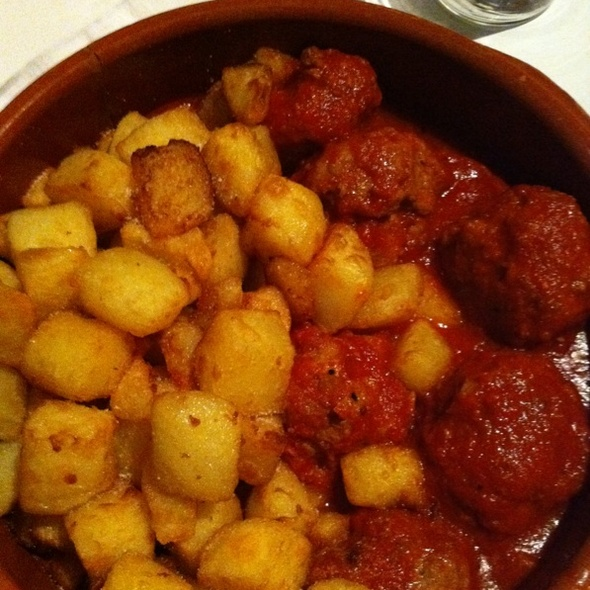 Meatballs With Patatas Bravas @ market bar