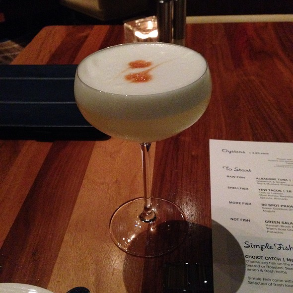 Pisco Sour - YEW seafood + bar - Four Seasons Hotel - Vancouver, Vancouver, BC