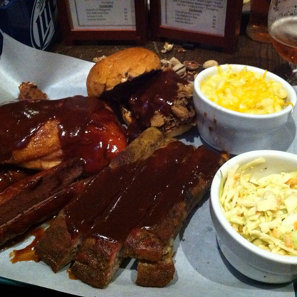 Combo Platter @ Midtown BBQ and Brew