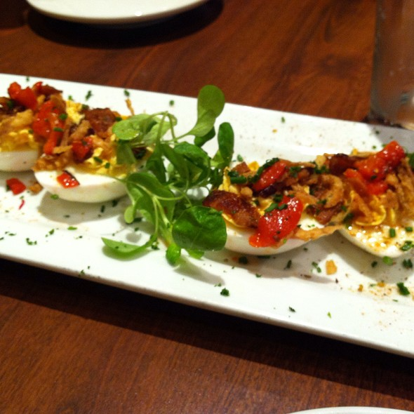 Pimento Cheese Deviled Eggs @ Miss Shirley's Cafe