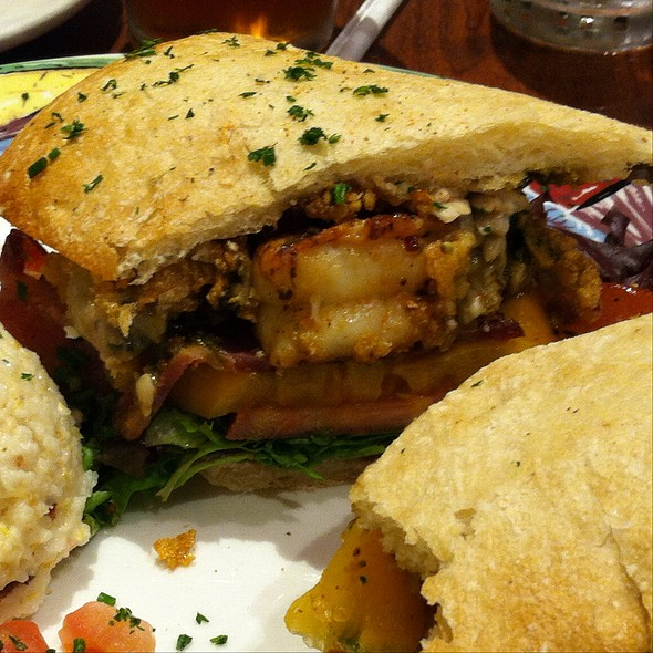 Shrimp and Oyster Po Boy @ Miss Shirley's Cafe