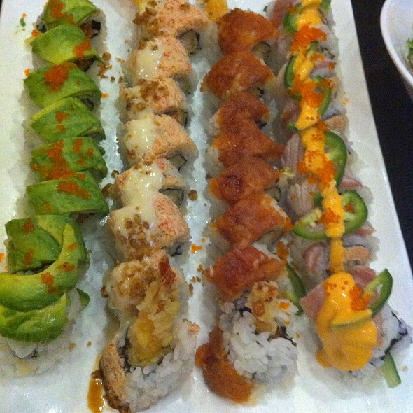 Irish Roll, Kamikaze Roll, Tiger Roll, 49Er Roll - Wasabi & Ginger, San Francisco, CA