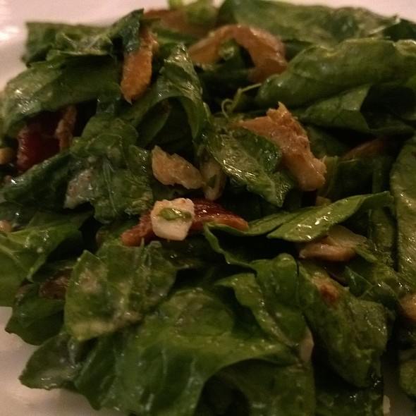 Spinach, Trout and Bacon Salad - Whitehouse-Crawford, Walla Walla, WA