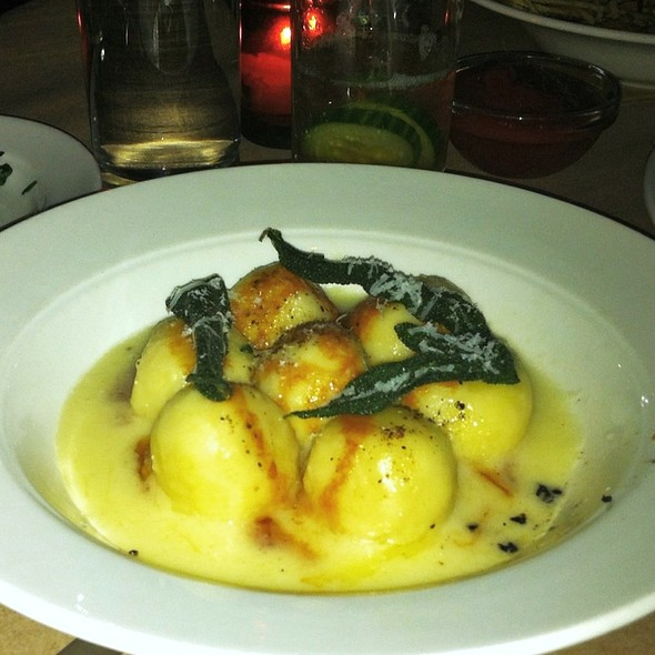 Sheep's Milk Ricotta Gnudi with Brown Butter & Crispy Sage @ The Spotted Pig