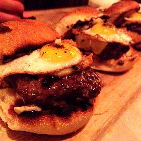 Kobe Beef Sliders With Quail Egg