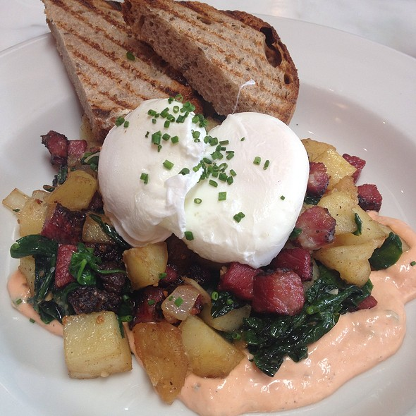 Poached Egg And Pastrami Hash