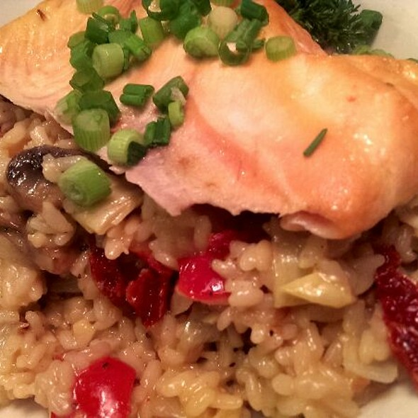 Baked Salmon and Risotto