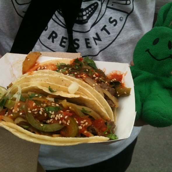 Bulgogi Spicy Fajita Taco @ Chilantro Korean BBQ
