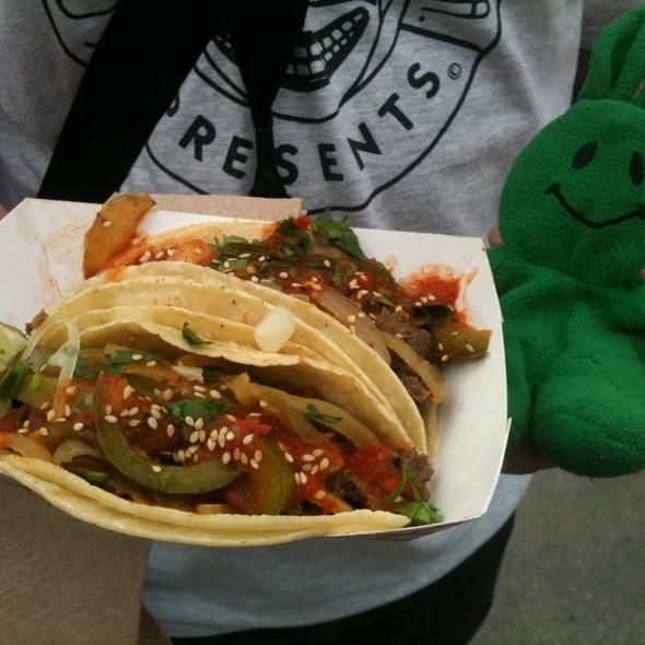 Bulgogi Spicy Fajita Taco @ Chilantro Korean BBQ