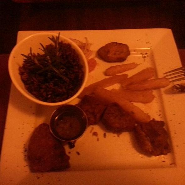 Fried Pork Chunks With Mojo Rice - Mojito Lounge, Elizabeth, NJ
