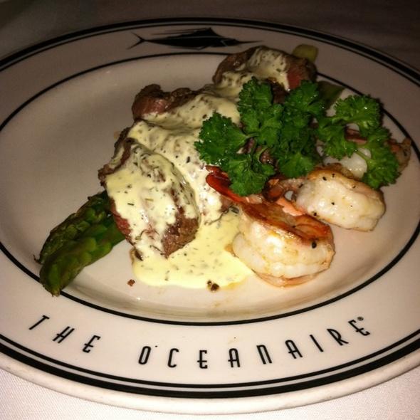 Grilled Steak & Shrimp with Asparagus in a Béarnaise Sauce - Oceanaire Seafood Room - San Diego, San Diego, CA