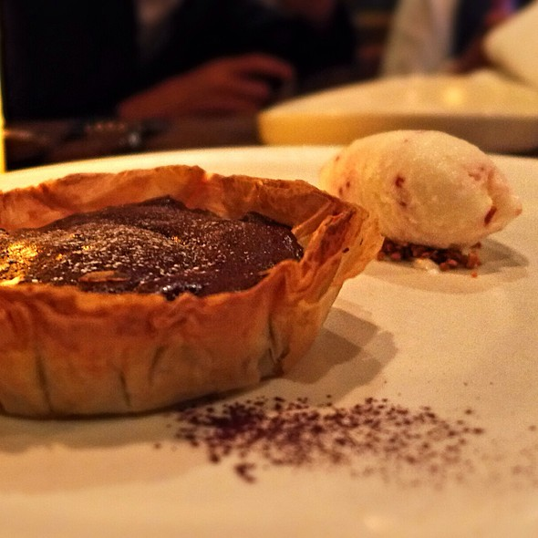 Dark Chocolate Soufflé Tart at Mercato by Jean Georges