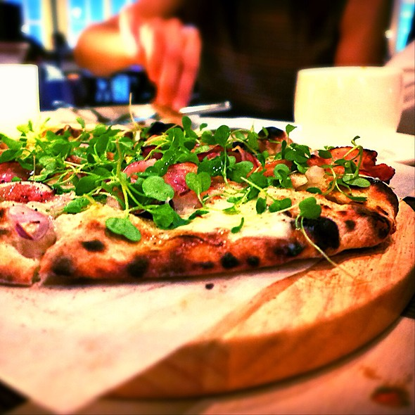 Pancetta, Fig & Three Cheeses Wood Oven Pizza @ Mercato by Jean Georges