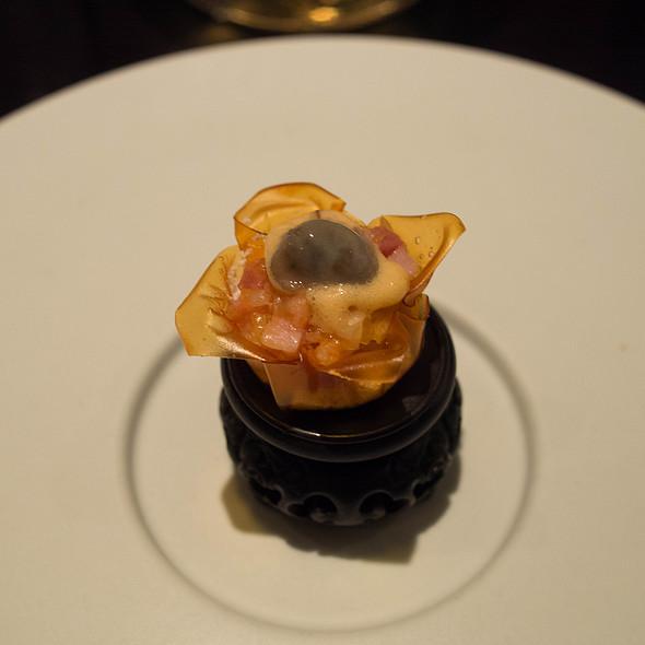 Oyster, Pork Belly, Kimchi
