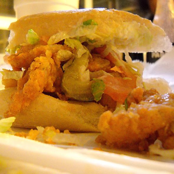 Fried Shrimp Poboy  @ Parkway Bakery & Tavern