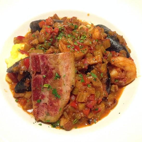 Shrimp & Grits & Mussels & Porkbelly - The Corner Office Restaurant and Martini Bar Denver, Denver, CO